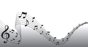 Beira preta da página da música de folha ilustração stock