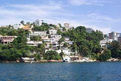 Beira-rio de Acapulco fotografia de stock