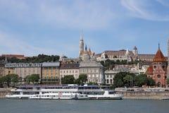 Beira-rio de Danúbio do bastião do pescador Foto de Stock Royalty Free
