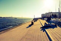 Beira-rio de Lisboa fotografia de stock