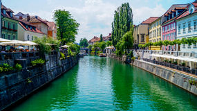Beira-rio 7 de Ljubljana Imagem de Stock