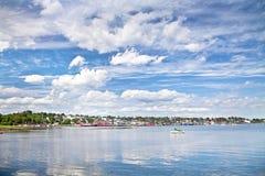 Beira-rio de Lunenburg Fotos de Stock Royalty Free