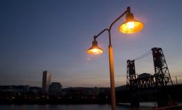 Beira-rio de Portland Fotos de Stock