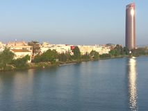 Beira-rio de Sevilha Imagens de Stock Royalty Free