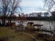 Beira-rio de Tisza em Szeged imagens de stock