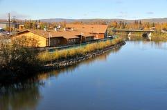 Beira-rio do rio de Alaska Imagem de Stock Royalty Free