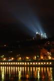 Beira-rio iluminado Fotografia de Stock