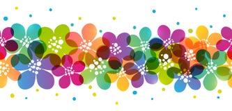 Beira sem emenda com flores da cor Imagens de Stock Royalty Free