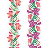 Beira sem emenda da flor Imagem de Stock Royalty Free