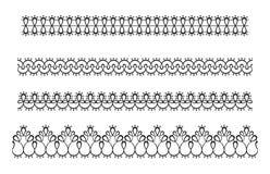 A beira sem emenda do laço isolou-se Fita do tracery do vetor, folho ilustração stock