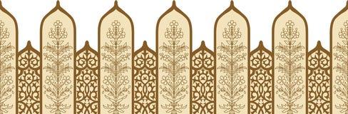 Beira sem emenda do ornamento do arco ilustração royalty free