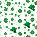 Beira sem emenda do Shamrock Imagem de Stock Royalty Free
