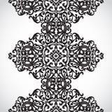Beira sem emenda do vetor no estilo vitoriano. Imagens de Stock Royalty Free