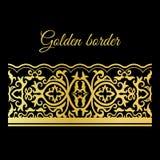 Beira sem emenda laçado dourada tradicional Fotos de Stock