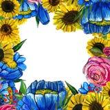 Beira tirada mão da flor Fotos de Stock Royalty Free