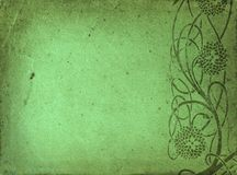 Beira verde do grunge Fotos de Stock