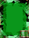 Beira verde do Natal Imagens de Stock Royalty Free