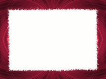 Beira vermelha do Fractal com espaço branco da cópia Fotografia de Stock Royalty Free
