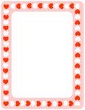 Beira vermelha dos corações ilustração royalty free