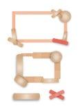 Beiras band-aid afiadas Peachy ilustração stock