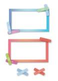 Beiras band-aid brilhantemente coloridas ilustração do vetor