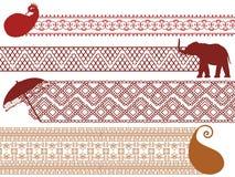 Beiras coloridas do Henna Imagens de Stock