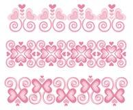 Beiras cor-de-rosa 1 do coração Fotografia de Stock Royalty Free