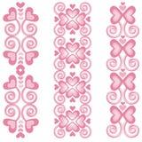 Beiras cor-de-rosa 2 do coração Imagem de Stock