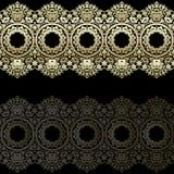 Beiras do laço do ouro, linhas de papel decorativas, vetor Nome do quadro indicador Convite romântico do casamento Abstraia o orn Imagens de Stock
