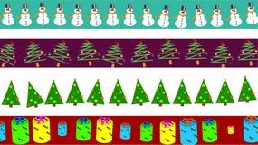 Beiras do Natal ilustração stock