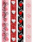 Beiras do Valentim ajustadas Foto de Stock