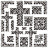 Beiras e cruzes celtas ilustração do vetor
