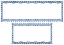 Beiras em branco do guilloche para o diploma ou o certificado Foto de Stock Royalty Free