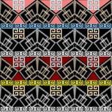 Beiras gregas Teste padrão sem emenda geométrico do vetor Tira abstrata Imagem de Stock Royalty Free