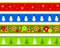 Beiras ou bandeiras do Natal Fotografia de Stock Royalty Free