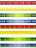 Beiras ou divisores decorativos do Natal Imagem de Stock Royalty Free