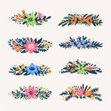 Beiras pequenas bonitos dos ramalhetes florais, flores denominadas retros Útil para crie cartões de casamento, produto que empaco Fotografia de Stock Royalty Free