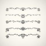 Beiras pretas com teste padrão floral árabe Ilustração do vetor Imagens de Stock Royalty Free