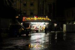 Beiroet, een regenachtige nacht royalty-vrije stock foto