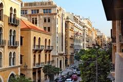 Beiroet van de binnenstad, Libanon stock foto