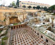 Beiroet van de binnenstad Roman Baths stock foto's