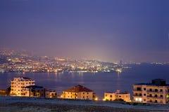 Beirut alla notte Fotografia Stock