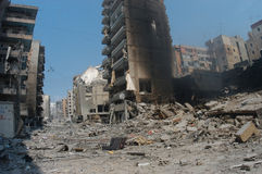 Beirut bajo bombardeo Foto de archivo
