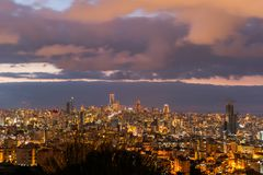 Beirut with a beautiful warm sunset stock photography