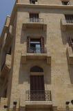 beirut bulletholes house lebanon Arkivfoto