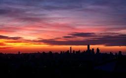 Beirut city on sunset Stock Image