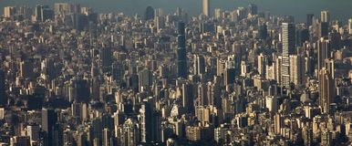 Beirut cityscape urban view royalty free stock photo