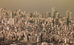 Beirut cityscape urban view royalty free stock photography