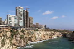 Beirut Coastline, Lebanon Royalty Free Stock Images