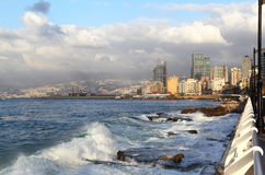 Beirut Coastline, Lebanon Stock Photography